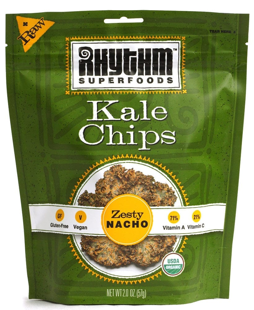 rhythm superfoods kale chips zesty nacho