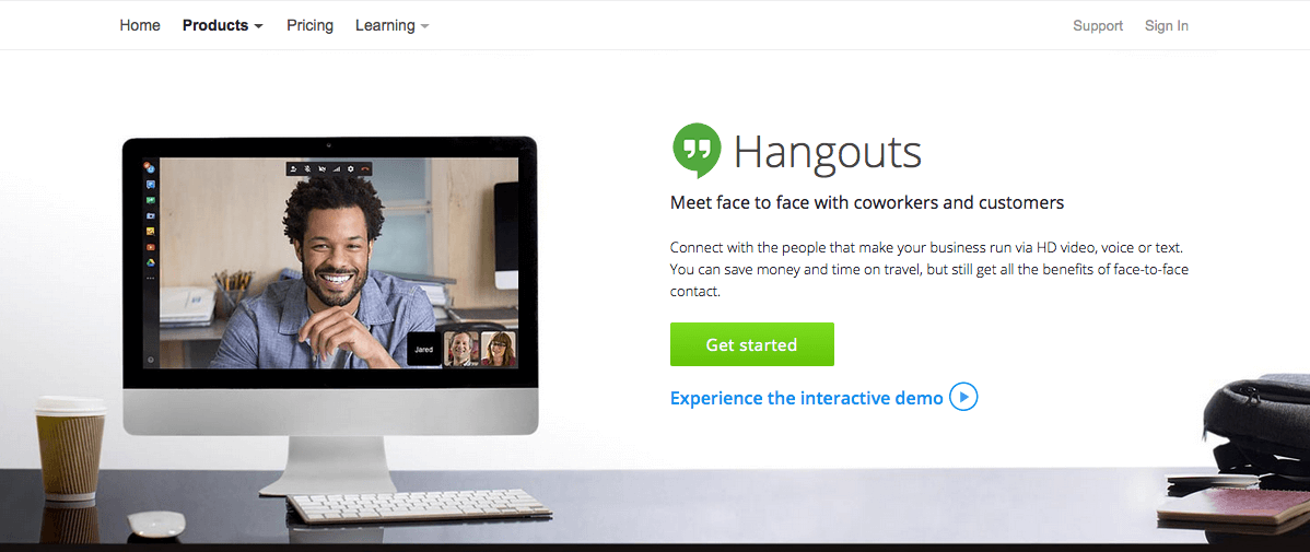 google hangouts office management tool
