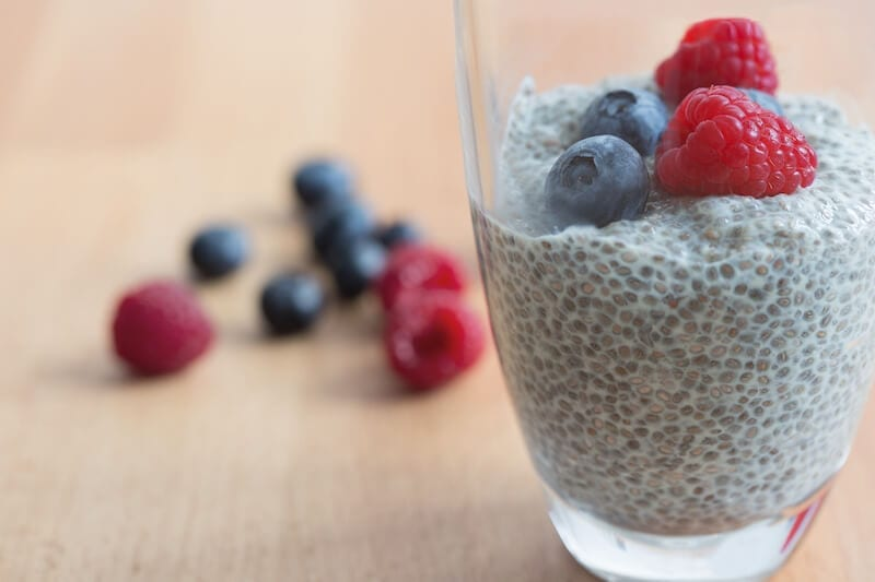 chia pudding - healthy office snack