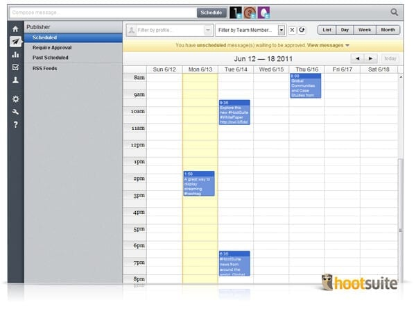 hootsuite office management tool