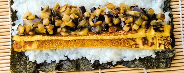 vegan-sushi-with-omelette-and-eggplant-gluten-free