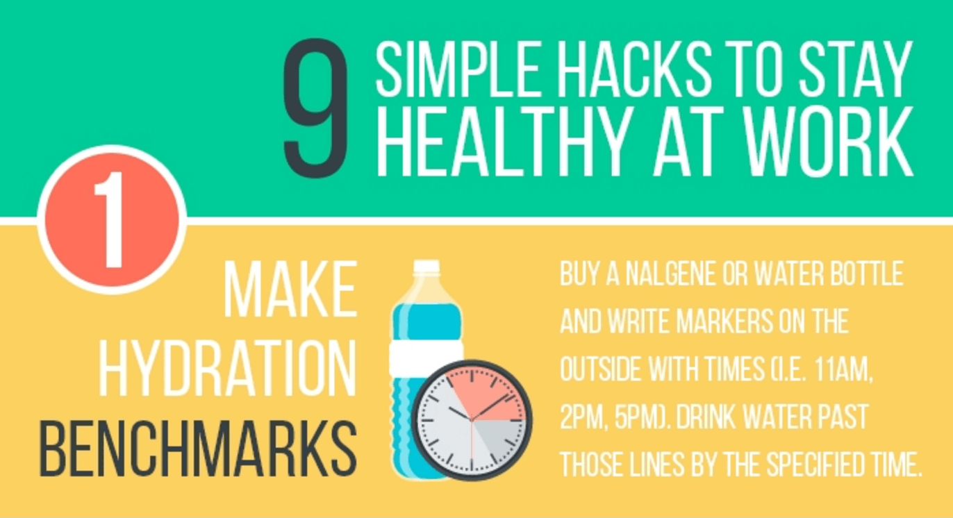 9 Simple Hacks to Stay Healthy at Work
