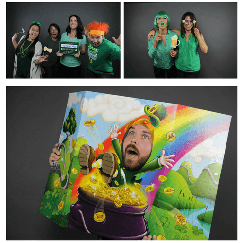 diy photo booth in the office