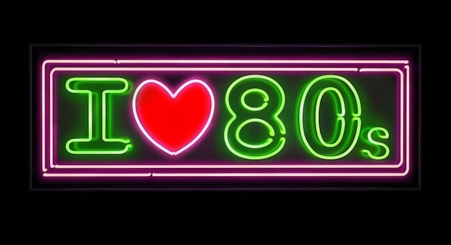 I love the 80s neon, green