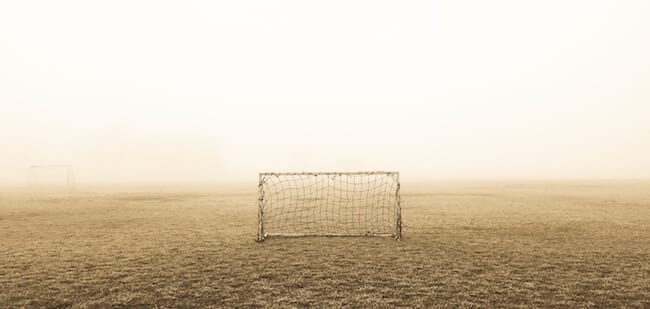 soccer net goal on field