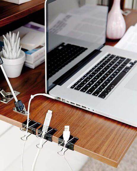 Diy Home Office Organization Ideas Declutter Cables Binder