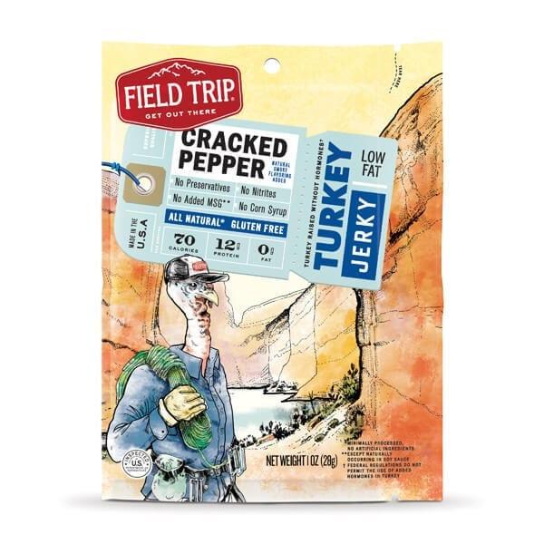 Field TripⓇ Cracked Pepper Free Range Turkey Jerky