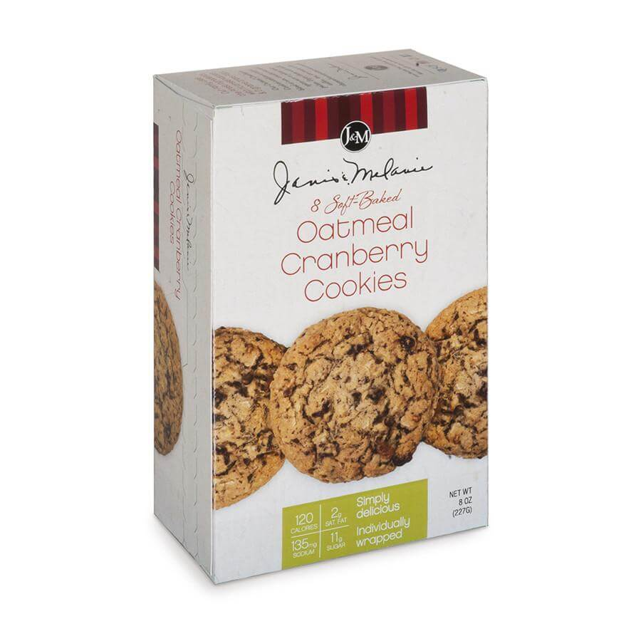 J&M Foods Oatmeal Cranberry Cookies