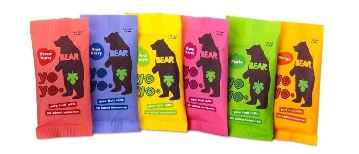 Bear Nibbles Bear Real Fruit YoYos