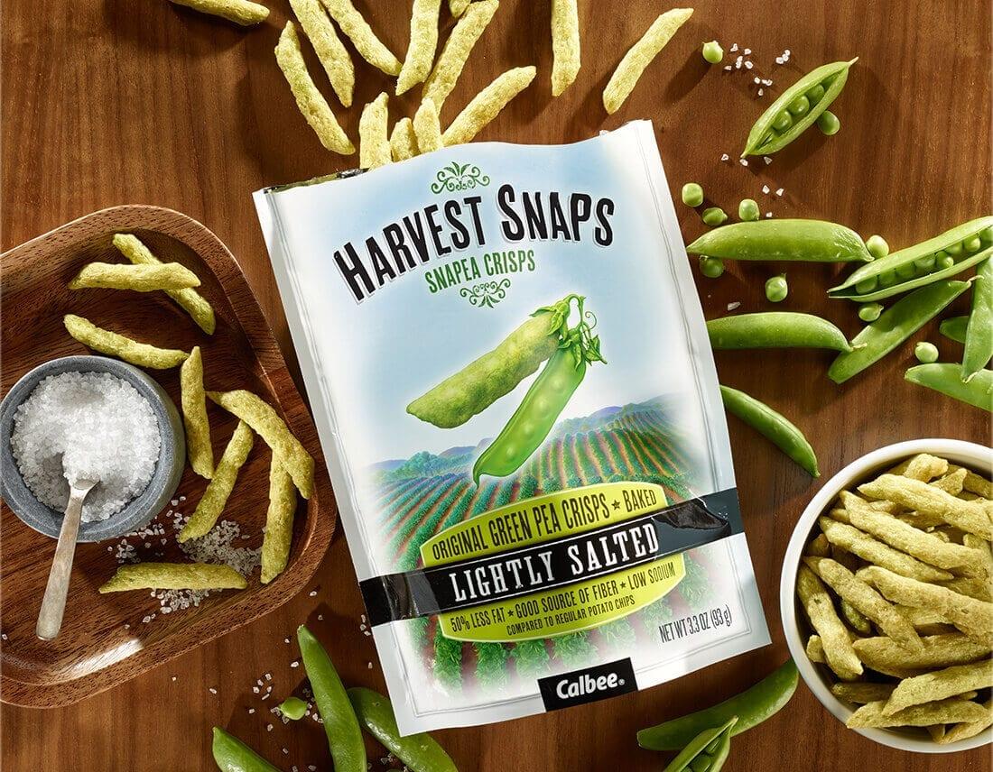Harvest Snaps Lightly Salted Green Pea Crisps