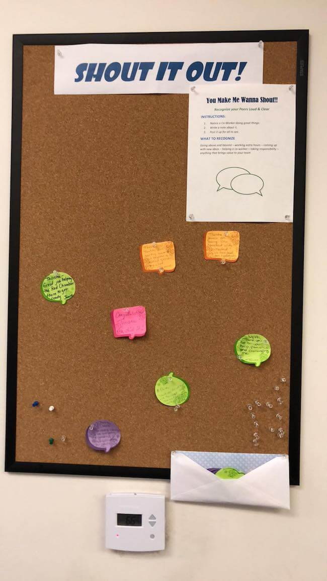 25 office bulletin board ideas to create buzz around your office.