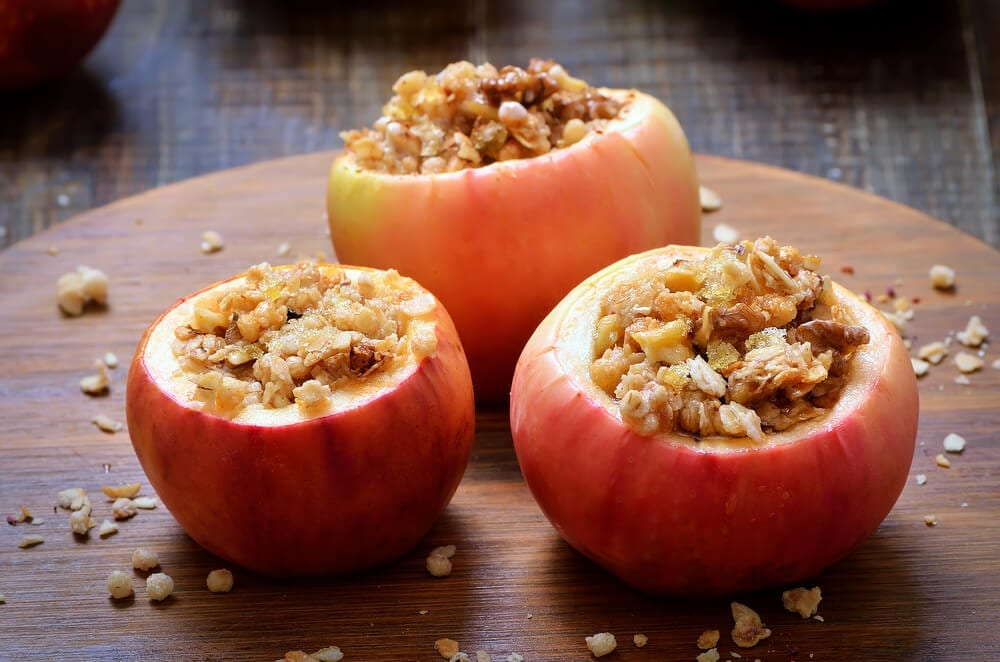 Healthy Party Snacks Stuffed Apples