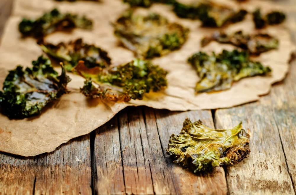 Healthy road trip snacks kale chips