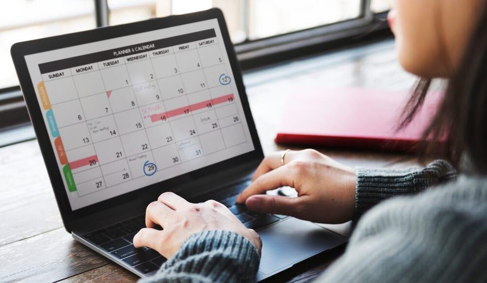 Executive assistant duties include calendar management