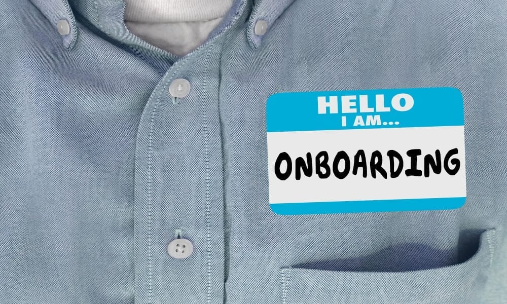 Executive assistant duties include onboarding