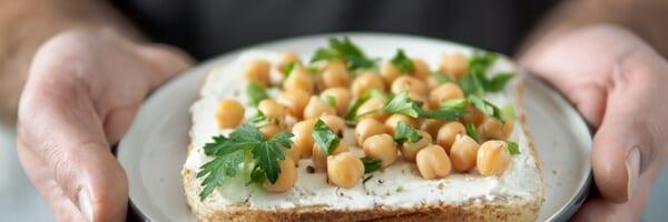 Chickpeas-on-Wheat-Toast