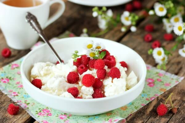 Sugar-free cottage cheese snack