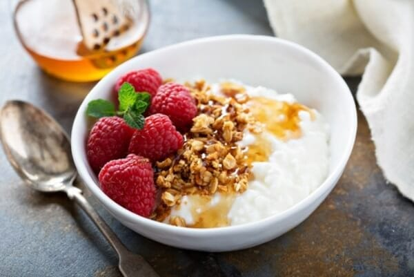 high-fiber cottage cheese bowl